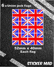 UNION JACK Quality Stickers Small / Decal Rallying Motorsport United Kingdom GB