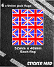 UNION JACK Quality Stickers Small / Decal Rallying Motorsport United Kingdom GB