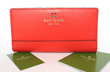 Kate Spade Stacy Southport Avenue Leather Wallet EmpireRed 642 WLRU1394 NWT