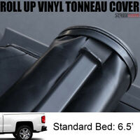 Lock & Roll Up Soft Tonneau Cover For 14-17 18 Silverado/Sierra Truck 6.5 Ft Bed