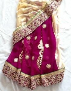 Women Ladies Indian Pakistani Bollywood party wedding wear designer saree sari