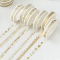 Gold Washi Masking Tape Klebeband Aufkleber Basteln Washi Marker Rollen