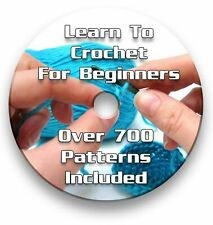 Learn To Crochet for Beginners Tutorial CD - 700 patterns included