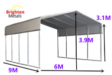 BM STEEL 6x9M Double Carport Kit Backyard Shelter Shed Garage Portable Pergola