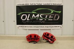 98 02 Camaro SS Firebird Trans AM Front Brake Calipers Driver Passenger Red LS1