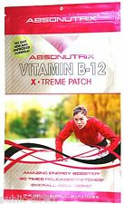Vitamin B12 X-Treme PATCH Energy Booster C B6 Guarana Niacin B3 Absonutrix Red