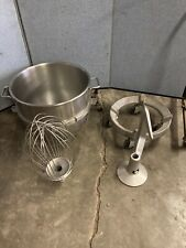 Hobart  Dough 60 Qrt Mixer Attachment Rolling Floor Bowl Dolly Hook Stainless