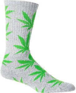 *RARE* HUF LEGALIZE HAWAII WEED MARIJUANA CREW SOCKS 420 4:20 BLACK RED GREEN HI