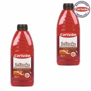 Carlube Mineral 2 Stroke Motorcycle Oil 1l Litre x 2