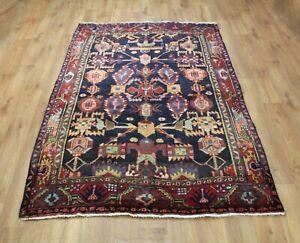 Traditional Vintage Wool Handmade Classic Oriental Areas Rug Carpet 212 X139 cm