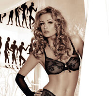 Soutien gorge sexy souple à armatures noir dentelle résille femme ROZA NEFRETETE