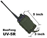 Pouch Case radio phone gps molle green olive airsoft bag od holder BaoFeng UV-5R