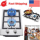 """12"""" Gas Cooktop 2 Burners Drop-in Propane/natural Gas Cooker Gas Stove photo"""