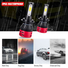 2X H11 COB LED Low Beam Headlight Lights Bulbs Kit 8000LM High Power 6000k White