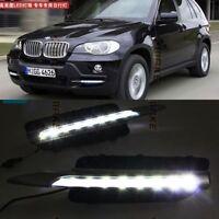 2x Pour 07-10 BMW E70 X5 LED DRL Feux De Jour Diurne Lampe Eclairage Daylight