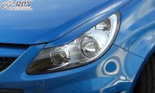 Rdx Projecteurs Ouverture Opel Corsa D (également Facelift) méchant regard panneaux Spoiler