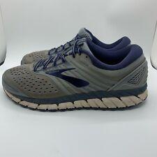 Brooks Beast 18 Mens Grey Navy Blue Walking  Running Shoes Men's Size 12 Wide EE