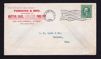 ADVERTISING COVER BUTTER EGGS POULTRY MACHINE CANCEL - 1C WASHINGTON 1916