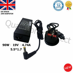 GENUINE 19V 4.74A 90W Acer Aspire 5742G TR Laptop Charger Adapter 5.5*1.7mm UK