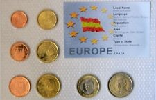 SPAIN EURO COIN SET-8 COINS MINT UNCIRCULATED-SEALED