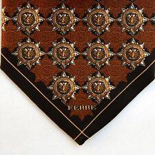 Gianfranco Ferre Exclusive Silk Tie Sheriff Emblems Phoenix Made in Italy RARE