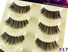 5 Pairs F17 Full Volume Soft Band False Eyelashes Long Party Fake Eye Lashes