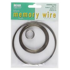 Beadsmith Memory Wire Black Oxide 10 Loops 5 Sizes (E41/4)
