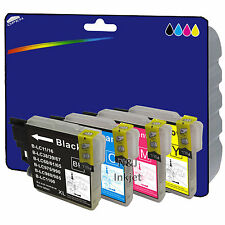 Choose Any 4 Compatible Printer Ink Cartridges for Brother DCP-197C [LC980]