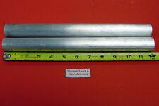 "2 Pieces 1-1/8"" 6061 T6511 ALUMINUM ROUND ROD 12"" long NEW Lathe Bar Stock"