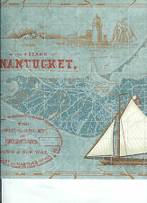 KATZENBACH AND WARREN NAUTICAL BLUE TONES WALLPAPER BORDER