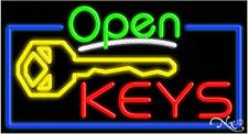 "Brand New ""Open Keys"" 37x20 Real Neon Sign W/Custom Options 15528"