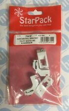 Curtain Rail Brackets to Fit Whiteline Track Pack 4 No:72419