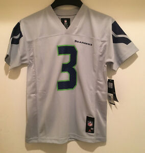 Seattle SEAHAWKS Russell Wilson #3 Youth Replica Gray Color Jersey -NFL Licensed