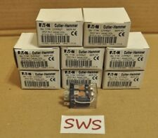 *NEW LOT OF 8* Cutler-Hammer D7PR2T Series A2 Relay DPDT 24VAC Coil