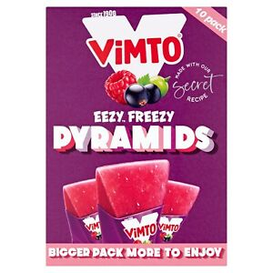 Vimto Eezy Freezy Pyramids Freezepops 2x10 (10x62ml - 310ml) Summer Lollies