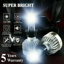 H3 1000W 221000LM COB LED Headlight Kit 6000K White Conversion Bulbs Light Pair