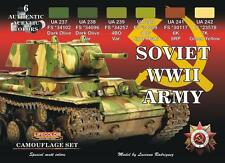 LIFECOLOR Camouflage Set CS23 - Soviet WWII Army - 6x22ml Acrylic Paints