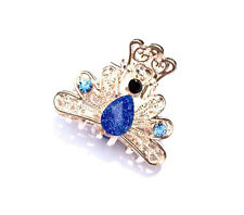 1pcs little eight claw Crystal alloy Rhinestone Hair Clip Jaw Hairpin --Blue