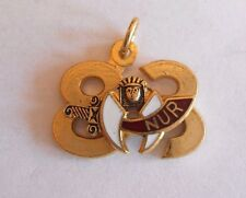 Great Vintage 1983 Shriners Masonic Nur Enamel Charm