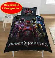 POWER RANGERS WITHIN MOVIE DESIGN Single DUVET QUILT COVER SET NEW BOYS BEDROOM
