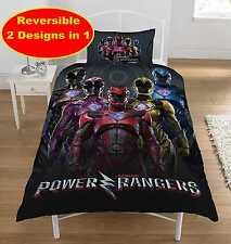 POWER RANGERS WITHIN MOVIE DESIGN Single DUVET QUILT COVER SET NEW BOYS BEDROOM
