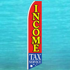 Income Tax Service Flutter Flag Tall Advertising Banner Sign Feather Swooper