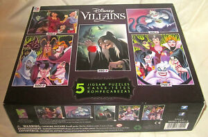 2015 DISNEY VILLIANS 5 Jigsaw Puzzle Box Set NEW in Box Great Gift 2,350 piece