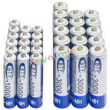 16 AA 3000mAh + 16 AAA 1000mAh battery Bulk Nickel Hydride Rechargeable 1.2V BTY