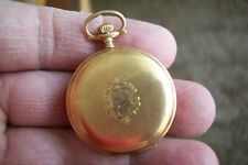 with Rare Roy Case! 109 years old! 14K Solid Gold Ladies Elgin Pocket Watch