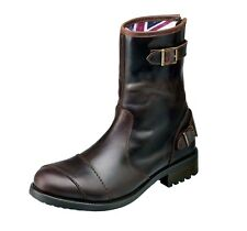 GENUINE Triumph Dadlington Brown Leather Cruiser/Classic Motorcycle Boot NEW
