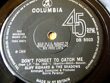 "CLIFF RICHARD & THE SHADOWS - DON'T FORGET TO CATCH ME  7"" VINYL"