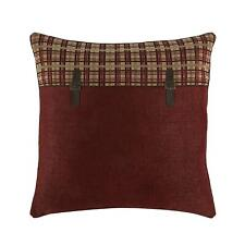 "Croscill Glendale European Pillow Sham 26"" x 26"" Euro Decorative Red Plaid New"