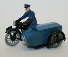 Reproduction Dinky RAC Rider with Motorcycle and Side Car