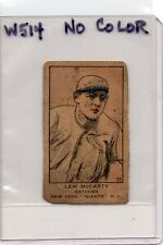 1919-21 W514 Strip Card #37 Lew McCarty, No Color Variant Error, New York Giants